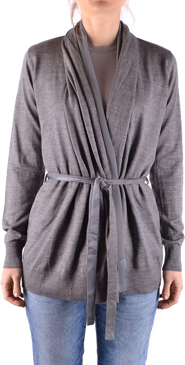 Liu Jo Women's MCBI33054 Grey Wool Cardigan