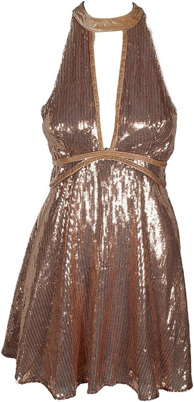 Free People Film black Sequin Mini Dress