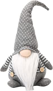 Best 18 Inches Handmade Christmas Gnome Decoration Swedish Figurines (Grey-2) Review