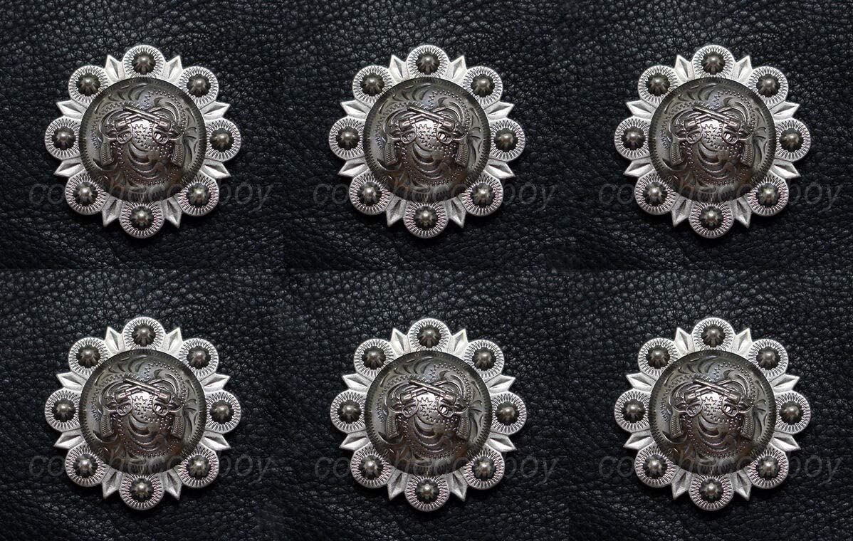 Conchos Leathercraft Accessories Set Max 79% OFF Free Shipping New of Hors Headstall Western 6