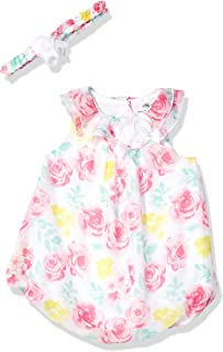 Baby Girl's Bubble Dress with Headband Dress