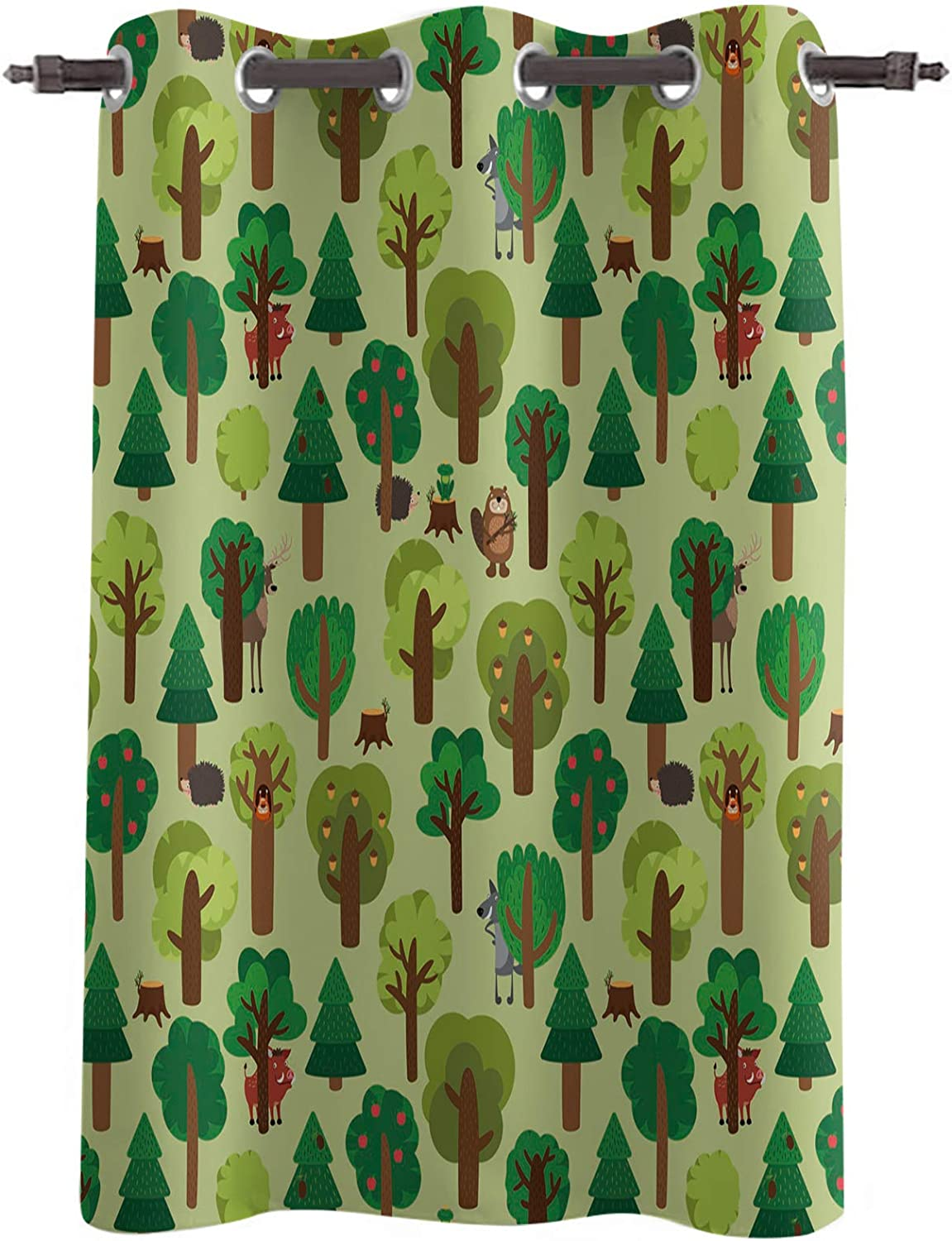 Forest 1 Panel Blackout Drapes Insulated Thermal Colorado Springs Mall Curtain 2021 model Window