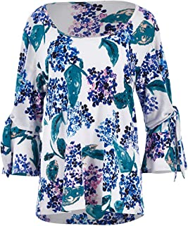 Belle Bird Womens Blouses Belle Garden Floral Top Hydrangea - Tops