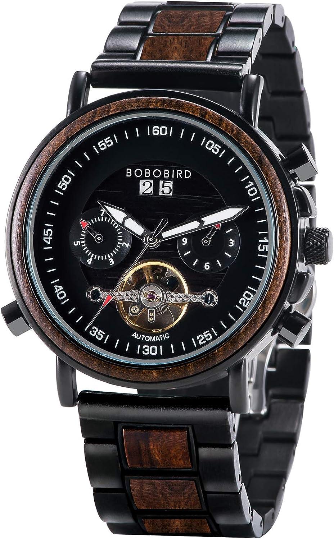 BOBO BIRD Mens Mechanical Watch Automatic Overseas parallel import regular item Sta OFFer Multi Winding Hand