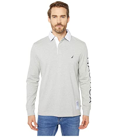 Nautica Rugby Knit Shirt (Grey Heather) Men