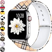 Adorve Bands Compatible for Apple Watch Band 38mm 40mm iWatch Series 5 4 3 2 1 Dressy Pattern Replacement Wristband for Women Ladies Girls Grid Print S/M