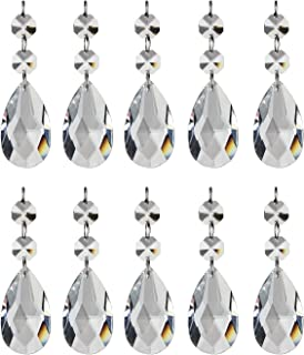 HIGHROCK Teardrop Chandelier Crystal, Pack of 10