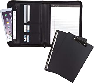 "Samsill 70829 Professional Padfolio Bundle, Includes Removable Clipboard.5"" Round Ring Binder with Secure Zippered Closure..."