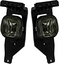 AJP Distributors For 2005 2006 2007 05 06 07 Ford F250 F350 F450 F550 F-250 F-350 F-450 F-550 Super Duty Superduty Excursion Replacement Fog Lights Lamps Assembly Pair Left Right Upgrade (Smoke)