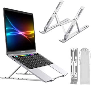 """Laptop Stand,PTUNA Portable Adjustable Tablet Computer Stand,Aluminum Alloy Folding Laptop Stand Compatible MacBook Air Pro,HP,Lenovo More 10-15.6"""" Laptops & Tablet(Space Silver) (Silver)"""