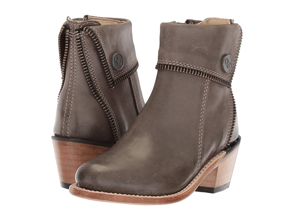 Old West Kids Boots Zipper Shoe Boot (Toddler/Little Kid) (Grey) Cowboy Boots