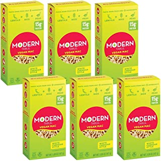 Modern Table White Cheddar Vegan Mac & Cheese, Complete Protein, 5.89 oz, 6 Count
