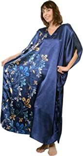 Pretty Caftan with Midnight Floral Vines, One Size, Style-Caf-60