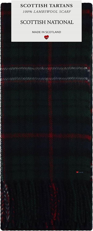 Scottish National Tartan 100% Lambswool Scarf Made in Scotland