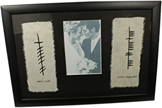 Biddy Murphy Ogham Irish Wedding Photo Frame Love & Happiness Made in Ireland