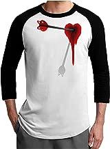 TooLoud Cupid's Arrow Heart Shot Wound Adult Raglan Shirt