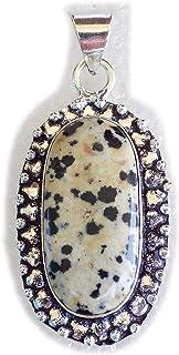 Dalmatian Jasper Pendant, Silver Plated Brass Pendant, Handmade Pendant, Gift Jewelry, Women Jewellry, Fashion Jewellry, B...