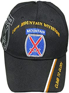 U.S. Army 10th Mountain Division DIv ACU Camo Embroidered Cap Hat Licensed