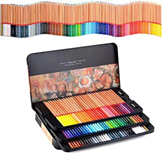 Coloured Pencils, Art Pencils Drawing Colouring Pencil Set in Tin Box Perfect for Adult Colouring Books, Students or Kids ...