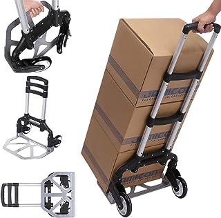 Carro de mano para camión, carretilla de aluminio de alta resistencia, plegable de 100 kg para levantamiento y movimiento cómodo en casa, oficina y al aire libre (Carretillas de mano1)