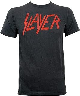Danielrio Fashion Mens Slayer Distressed Logo Slim-Fit T-Shirt