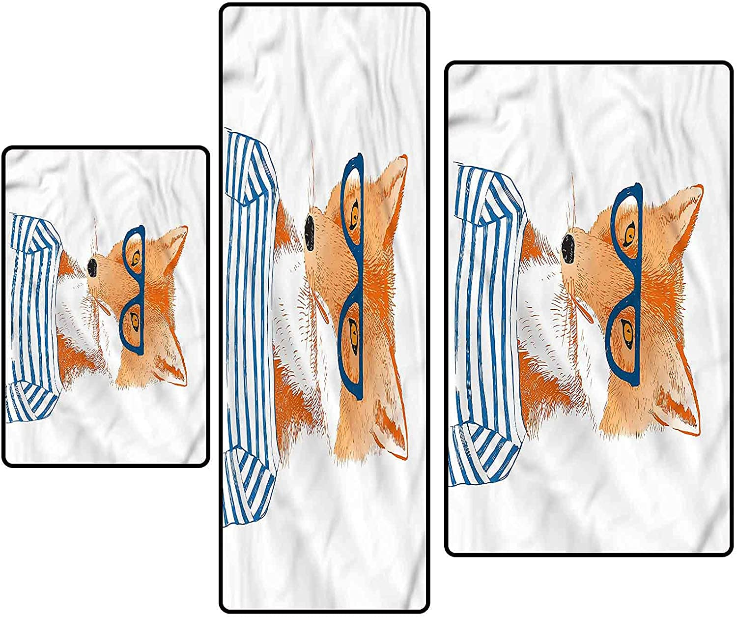 Modern Non-Slip Directly managed store Kitchen Mat 2021 spring and summer new Runner Rug Hipster Gla Set Fox with