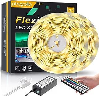 Phopollo Led Strip Lights For Room Bedroom Waterproof Multicolor Led Lights Tape Color Changing 32.8ft 12v Outdoor Lighting 5050 RGB 300 LEDs 10m