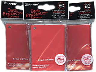 Ultra Pro Card Supplies YuGiOh Sized Deck Protector Sleeves Red 60 Count x3