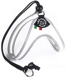TRE PONTI (トレポンティ) 犬用/猫用 ハーネス Liberta (リベルタ) イタリア製 FLUO (サイズ2(適応体重:4~5㎏ / 胴回り:30~40 cm), ホワイト)