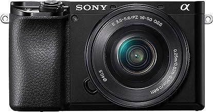 Sony Alpha 6100 - Cámara Evil APS-C con Objetivo Zoom Potente Sony 16-50mm f/3.5-5.6, Enfoque automático rápido 0.02s, Eye AF para Personas y Animales, grabación de vídeos en 4K y Pantalla inclinable