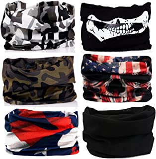 KALILY 12PCS/9PCS/6PCS Headband Bandana - Versatile Sports Headwear –Multifunctional Seamless Neck Gaiter, Headwrap, Balaclava, Helmet Liner, Face Mask for Camping, Running, Cycling