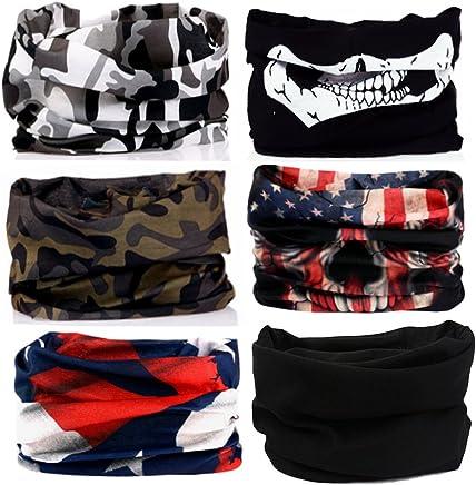 cd002c663fe KALILY 12PCS 9PCS 6PCS Headband Bandana - Versatile Sports Headwear –Multifunctional  Seamless Neck