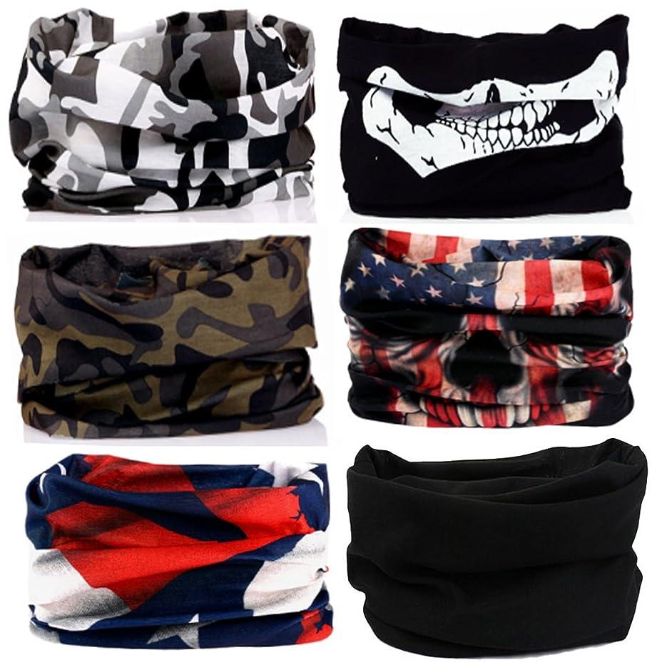 KALILY 12PCS/9PCS/6PCS Headband Bandana - Versatile Sports Headwear –Multifunctional Seamless Neck Gaiter, Headwrap, Balaclava, Helmet Liner, Face Mask for Camping, Running, Cycling