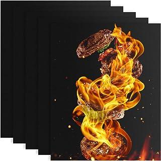 QUACOWW Lot de 5 feuilles de cuisson permanentes en téflon anti-adhésif pour four à gaz de 40 x 33 cm,lave-vaisselle,papie...