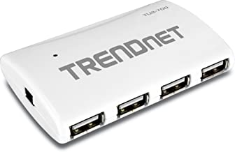 TRENDnet USB 2.0 7-Port High Speed Hub with 5V/2A Power Adapter, Up to 480 Mbps USB 2.0 connection Speeds, TU2-700