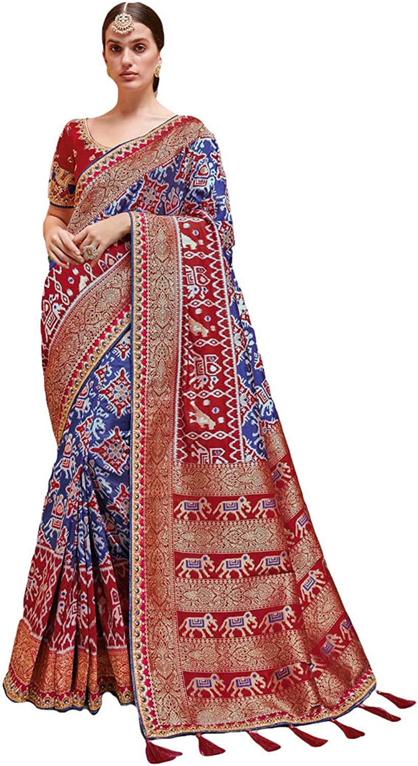 DesiButik's Party Wear Glamgoldus Multicolor Silk Saree