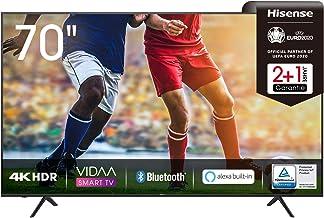 Hisense 70AE7000F 178 cm (70 Zoll) Fernseher (4K Ultra HD, HDR, Triple Tuner DVB-C/ S/..