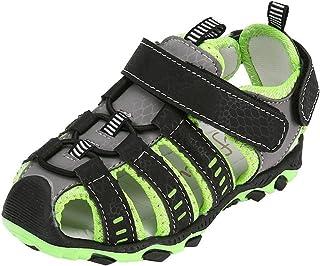 [幸運な太陽 子供靴] 男の子 女の子 閉じたつま先 ビーチ スポーツ サンダル 靴 スニーカー 足育 足に優しい 軽量 通気性 ゆったり 抗菌防臭 シューズ 歩きやすい 人気