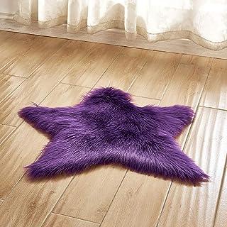 Tapis Mauve violet lavande chaude Shaggy Pile Area Tapis ...