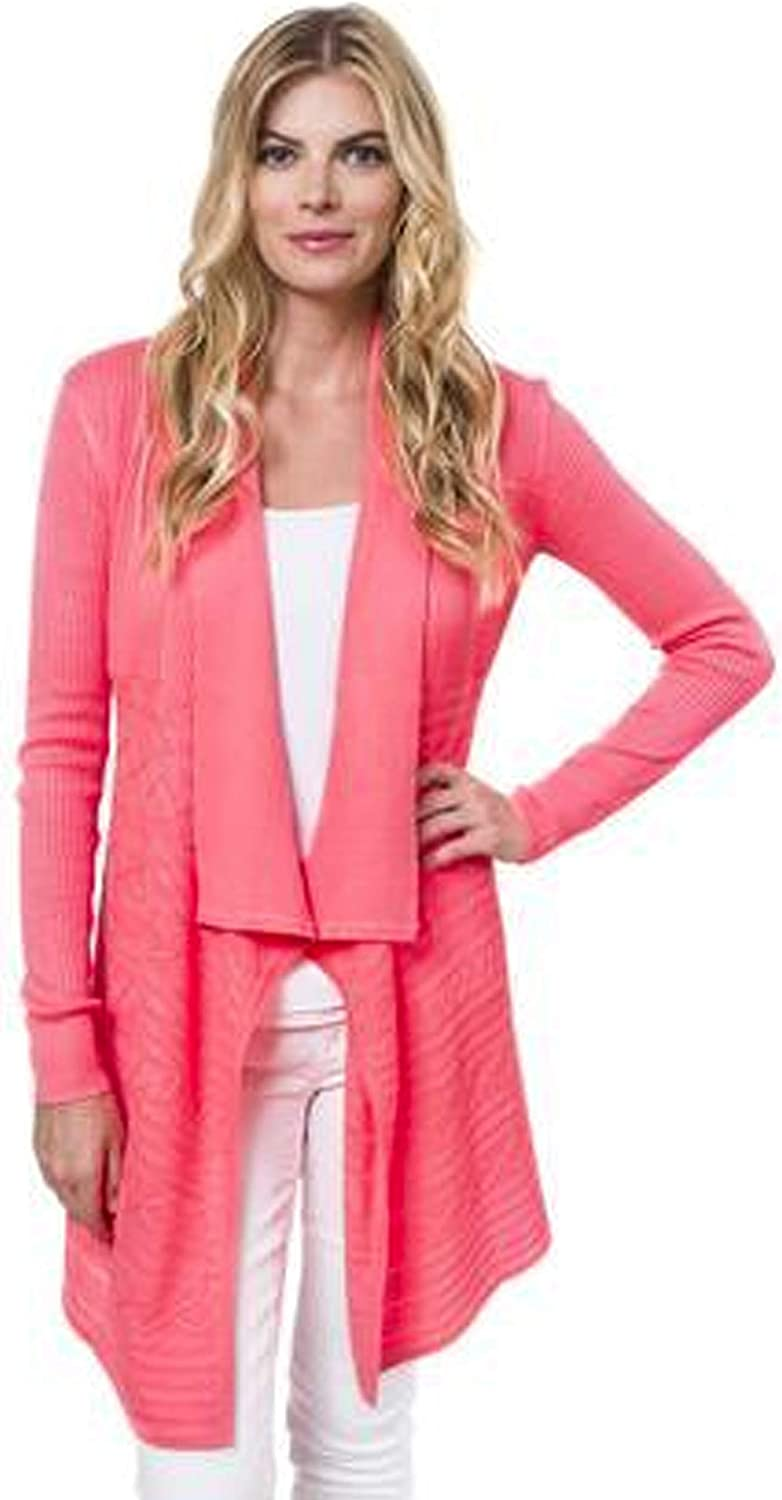 Julie Brown Womens Jolie Cardigan Lakeview bluee, Frozen Strawberry P S