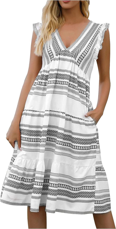 Monbof Women's Casual Short Sleeve Solid Party Summer Maxi Playa Dress Maxi Boho Plus Size