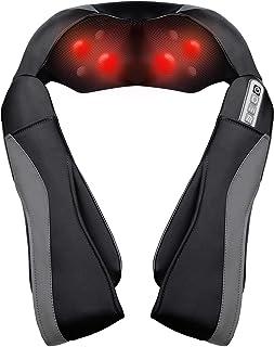 Masajeador Cuello Cervical Espalda Eléctrico, Masajeador de Hombros con Calor para Relajar y Aliviar los Dolores de los Músculos