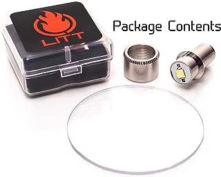 LITT Maglite LED Upgrade & Lens KIT Bulb 3-6 Cell C & D Model