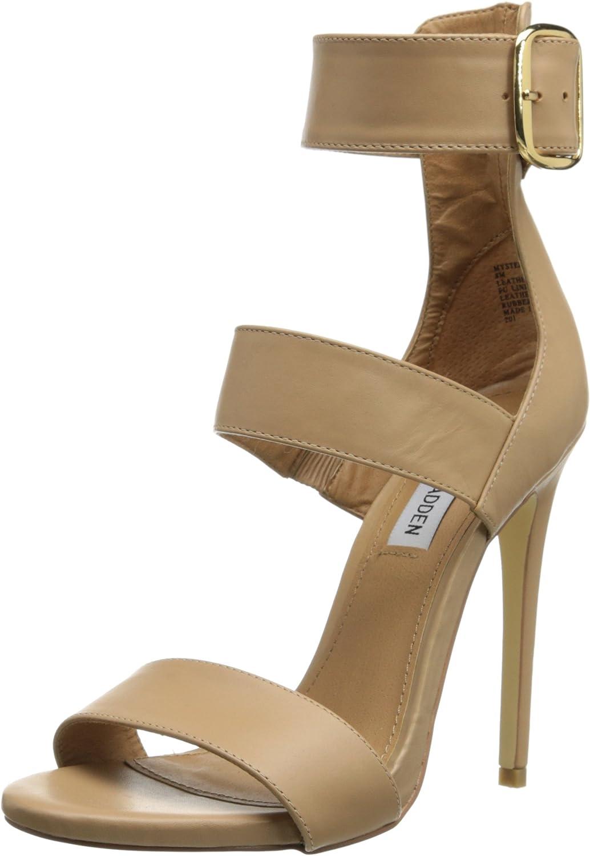 Steve Madden MysterII Women US Size 10 Nude Faux Leather Sandals