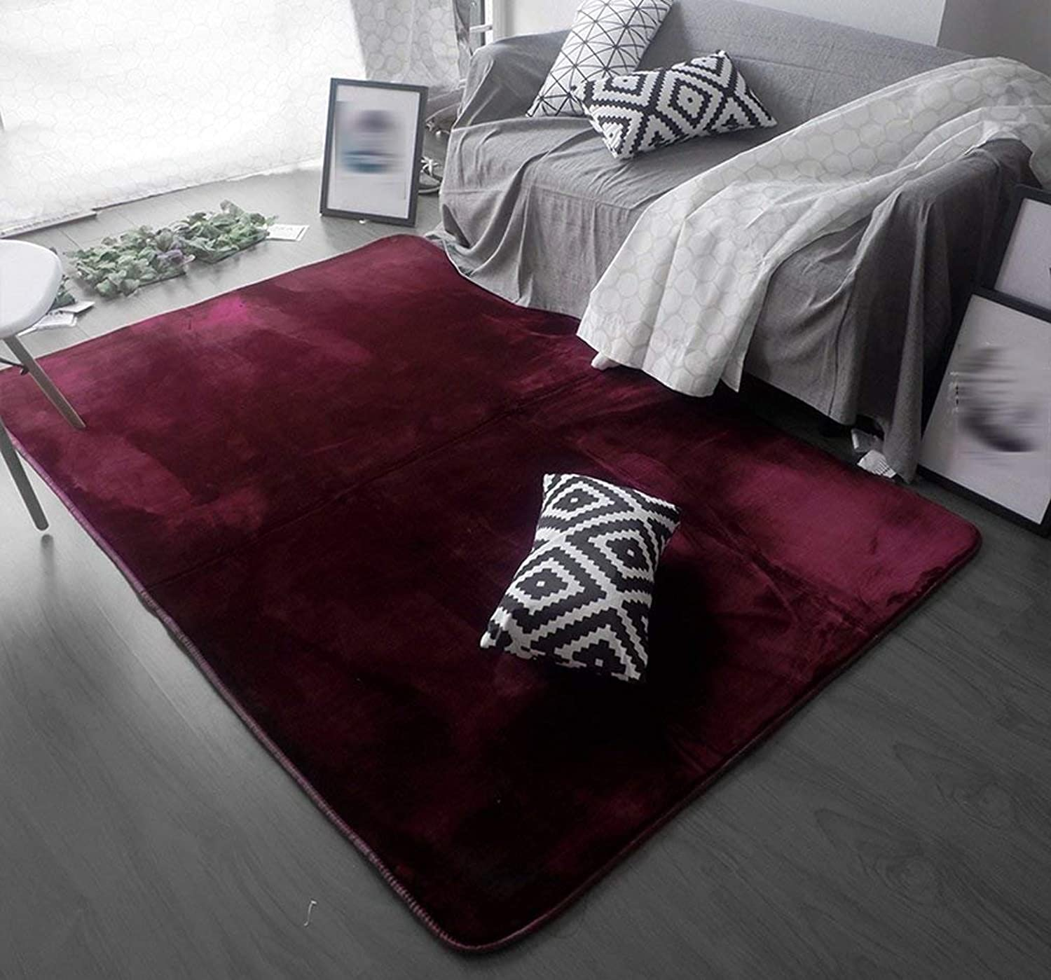 Carpet, Nordic Creative Trend Carpet Living Room Modern Bedroom Carpet Black and White 0.7 × 2.0m 1.4 × 2.0m Soft and Comfortable (color    1, Size   1.0  1.4m)