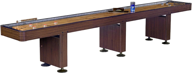 Challenger Shuffleboard Table w Dark Soldering Max 64% OFF Finish Cherry Hardwood Pla