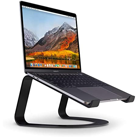 Twelve South Curve for MacBooks and Laptops | Ergonomic desktop cooling stand for home or office (matte black)