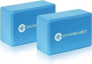 GYMENIST Yoga Blocks, High Density EVA Foam Block, Provides Support and Deepen Poses, Improves Strength,Balance and Flexib...