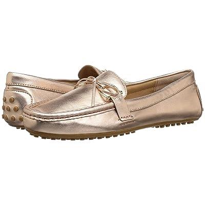 LAUREN Ralph Lauren Briley Moccasin Loafer (Rose Gold Metallic Leather) Women