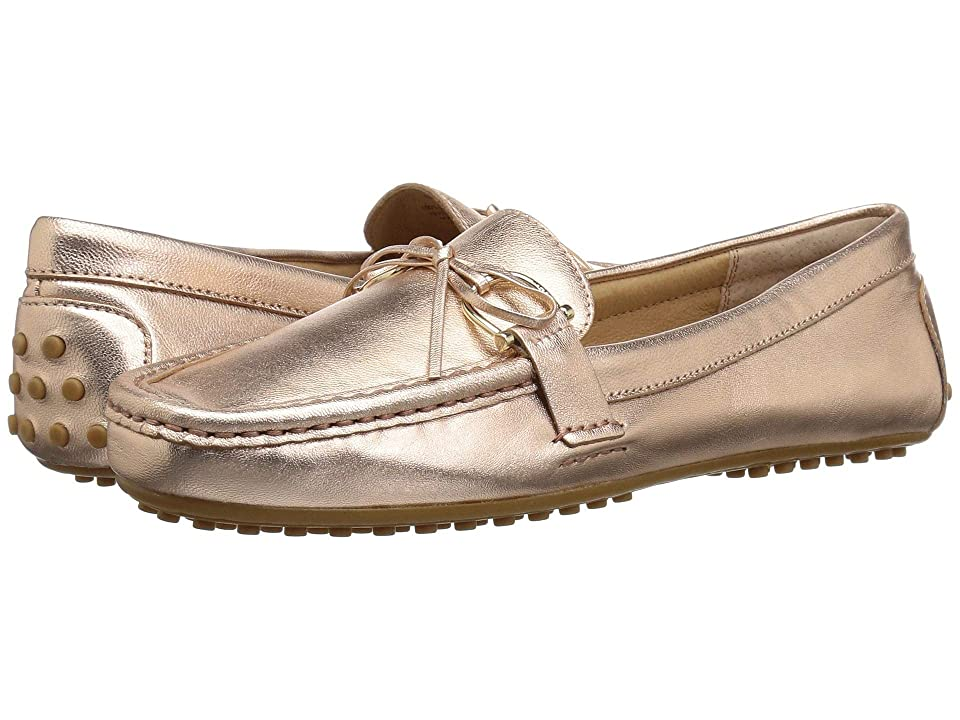 LAUREN Ralph Lauren Briley Moccasin Loafer (Rose Gold Metallic Leather) Women